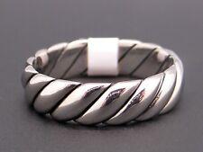Scott Kay Mens Palladium 6mm Wedding Band Rope Ring G0975 Size 10.5