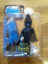Mezco Family Guy Figure, Series 2, Death and Death Dog, Hooded Variant.