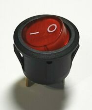On/Off Power Switch - Red Illuminated - 3 Pin - 6A-250V - Free UK P&P