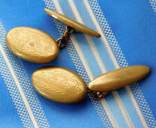 Fleur de lis cufflinks Vintage 1950s Lambourne patente oculto Primavera Y Cadena
