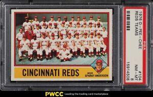 1976 O-Pee-Chee Reds Teams #104 PSA 8 NM-MT