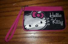 🐱 Hello Kitty Zippered Pouch Makeup Bag Pencil New Black Pink