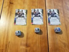 Star Wars Destiny Lead By Example x3 Card and Dice, Empire at War, Never Used!
