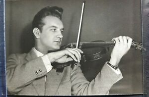 1958 Valery Klimov MUSIC VIOLIN Russian violinist Moscow Conservatory Photo card