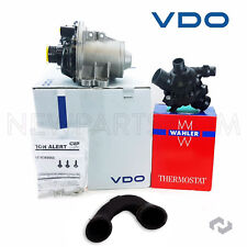 OEM Electric Engine Water Pump + Bolts & Behr Thermostat + Hose Therst to W/P