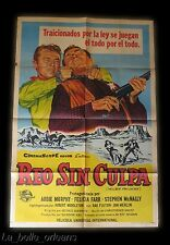1960 LITHO MOVIE POSTER 1SH - HELL BENT FOR LEATHER - MURPHY/ FARR / McNALLY.