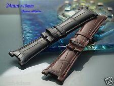 24mm Genuine ALLIGATOR skin Band Strap bracelet (FITS) Patek Philippe Nautilus