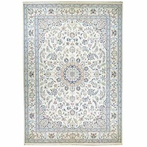 Hand-Knotted Oriental Wool & Silk Traditional Design Rug 9.10 X 13.10 Brral-5646