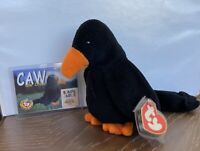 Ty Beanie Baby CAW THE CROW 3rd Gen Hang / 1st Gen Tush PVC!!  Rare Collectible!