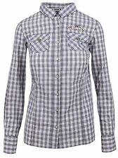 L' ARGENTINA Damen Bluse Women Shirt Größe 38 M 100% Baumwolle Kariert Checkered
