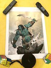 Skaar Sideshow Premium Art Print Signed, Marvel, Logan movie,Hulk, Thor Ragnorok