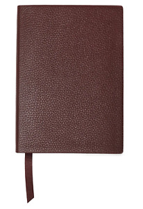 Smythson Soho Notebook in Chocolate Brown Leather