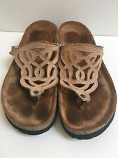 Naot Barbados Nude Tan Slide Sandals Size 38 Lovely