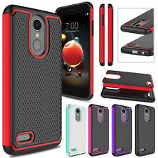 Hybrid Armor Hard Phone Case Cover For LG Aristo 2/Tribute Dynasty/Fortune 2/K8