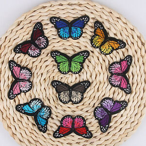 Pretty Cloth Sew DIY Patch Embroidered Butterfly iron on Appliques/scrapbook `hw