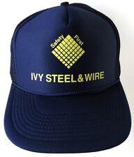Ivy Steel & Wire Snapback Mesh Trucker Hat Houston Texas Safety First Blue