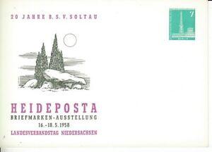 Berlin  Privatganzsache  7 Pfg. Funkturm  Heideposta  1958  **