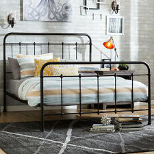 Antique Metal Bed Queen Farmhouse Vintage Bronze Headboard Footboard Bedroom New