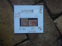 NEWFOUNDLAND 7c & 8c stamps F/U. to G/U.