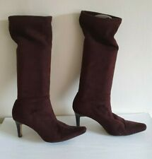 Marks & Spencer Boots 6 Brown Faux Suede