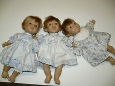 Vintage Lot of 3 Berenguer Expressions Dolls - Blond, Soft Body 9 in.