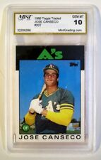 1986 Topps Traded #20T JOSE CANSECO  *GEM MINT 10* - Free Shipping