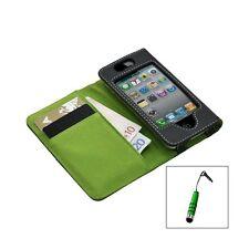 etui pour Apple Iphone 4 / 4S vert + Mini stylet + Film protecteur