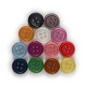 100pcs Pearl Resin button Sewing Scrapbooking Clothing Handmade Decor 10-15mm