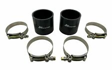"2 Silicone 3"" Inch Couplers Turbo Pipe Intercooler / Air Intake + 4 TBolt Clamps"