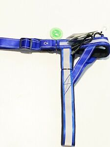Top Paw® LED & Reflective Rechargeable Adjustable Blue Dog Harness (NWT size S)
