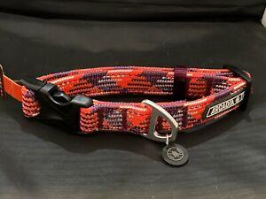 Arcadia Trail Orange, lavender, and purple  Paracord rope adjustable Collar