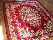 Velvet italian bedspread italian Vintage blanket floral  carpet  NEVER USED