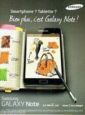 PUBLICITE ADVERTISING 116  2011   le Galaxy Note par Samsung