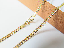 "J.Lee 18K Yellow Gold Necklace Solid Curb Link Chain / 3 Length (16.5""-19.7"")"