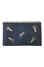 *MOSCHINO* BY REDWALL RARE VINTAGE KEY STUDDED BLACK CLUTCH BAG (L)