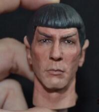 "Custom painted star trek Mr spock head for 12"" Action Figure doll Toys soldier m"