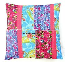 Indian Patchwork Cushion Cover Kantha Pillow Case Sofa Room Decorative Throw Art