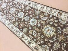 "Persian Oriental Rug Runner Ziegler Hand Knotted Wool Brown Beige 2'.6"" X 10'.4"""