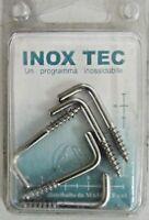 INOX TEC 5 cancani a vite A4 ganci gancio ø 3,5x50 mm in acciaio nuovo imballato