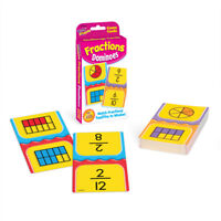 Fractions Dominoes Flash Card Game - Age 9+ - Classroom/Home Use - Teach Maths