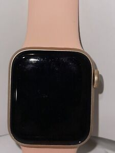 Apple Watch Series 5 GPS 40mm Aluminum Gold Case With Pink and Blue Sport Band
