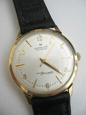 14k SOLID Gold Vintage 1970's Men's Hamilton Masterpiece Thin-O-Matic Watch Runs