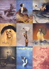 """ART OF JEFFREY JONES SERIES 2"" COMPLETE 90 FANTASY ART BASE CARD SET"