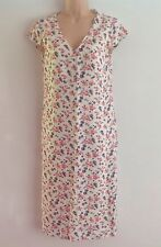 WRAP POETRY Cream Floral print Linen Long Summer Dress Size 8 NEW