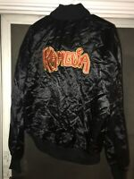 Vintage 90s KAHLUA Liquor Satin Jacket USA Made Men L Employee Swag