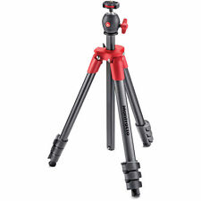 Manfrotto MKCOMPACTLT-RD Compact Light Aluminum Tripod (Red). No Fees! EU Seller