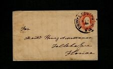 "1850s U10 Type envelope w/ ""PRINCE EDWARD C.H. Va."" to Doctor in Tallahassee, FL"