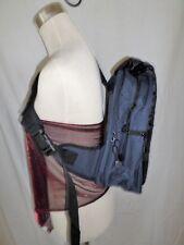 Sling Bag Flap Over Rucksack One Shoulder Cross Body Strap Multi Pockets Blue