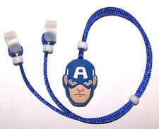 Children's Hearing Aid safety Leash RETAINER CORD CLIP for 2 H.A.'s AMERICA MAN
