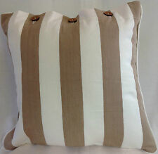 Cushion Cover Beige Off White Stripe Ohara Linen Cotton Pillow Case Decor Covers